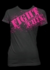 Fight Chix Splatter Black T-shirt