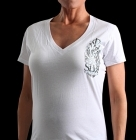 Silver Star Womens Interlocked White t-shirt