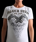 Silver Star Womens Jrs Destroyer White t-shirt