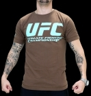 UFC Supporter Brown/Pale Blue tee