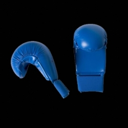 Adidas WKF Karate Mitts, blue