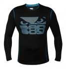Bad Boy Carbon Rash Guard Long Sleeve Black/Neon Blue