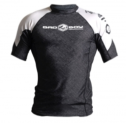 Bad Boy DArce Rash Guard Short Sleeve Black/White