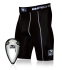 Bad Boy Defender Compression Shorts and Cup