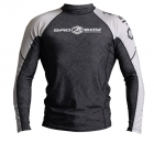 Bad Boy Guillotine Rash Guard Long Sleeve Black/White