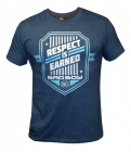Bad Boy Shield T-shirt Heather Navy Blue
