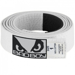 Bad Boy BJJ Belt White