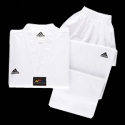 Adidas Taekwondo Elite Uniform, white v-neck