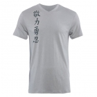 Jaco Kanji II Performance V Neck t-shirt Silverlake