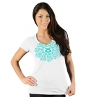 Jaco Womens Henna Performance V Neck t-shirt White