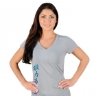 Jaco Womens Kanji Performance V Neck t-shirt Silverlake