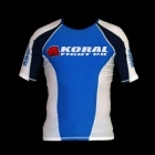 Koral Rash Guard Short Sleeve Blue