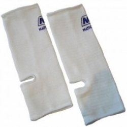 Nationman Ankle Support Free Size White (pair)