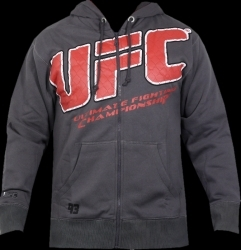 UFC Raised Cage Hoodie Charcoal